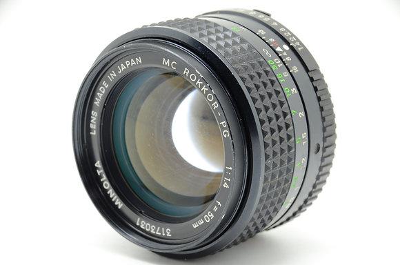 MINOLTA  MCロッコール50mm F1.4 ID 2b0743895