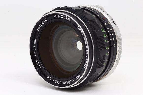 MINOLTA W ROKKOR-SG 28mm F3.5   ID 2b0731131