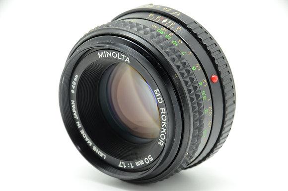 MINOLTA  MDロッコール50mm F1.7 ID 2b0743659