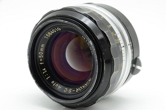 NIKON オートニッコールSC 50mm F1.4 ID 2b0740068