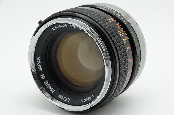 CANON FD 50mm F1.4   ID 2b0737976