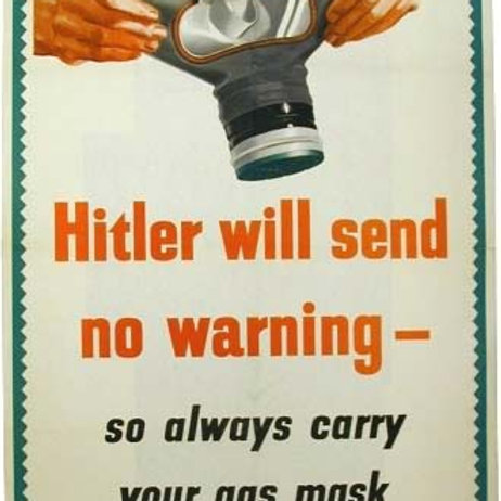 Hitler will send no warning cross stitch chart