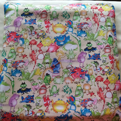 "Large project bag (13x12"") Crazy frog (Cream)"