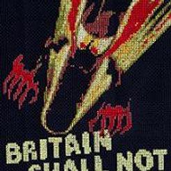Firebomb Fritz Britain shall not burn  cross stitch chart
