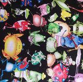 Funky frogs black fabric.jpg