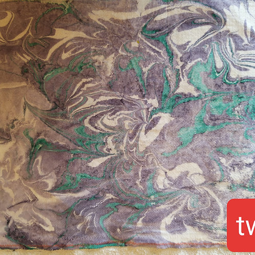 Hand dyed marble fabric #2