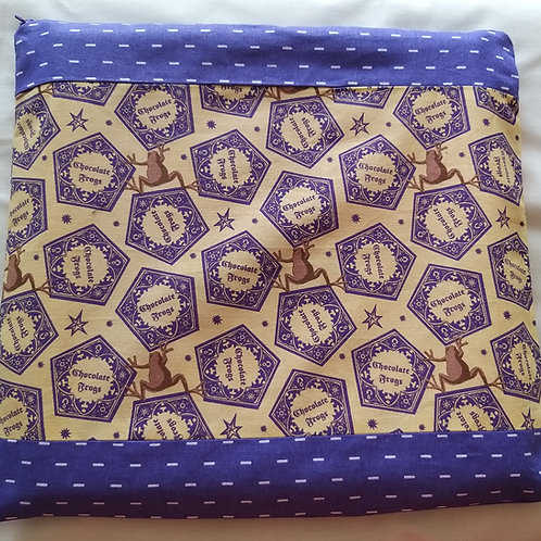 "Large Project bag(13x12"") Chocolate Frog"
