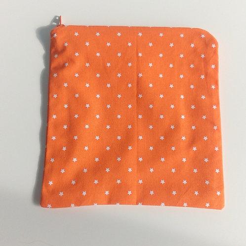 Project bag Small Orange Stars