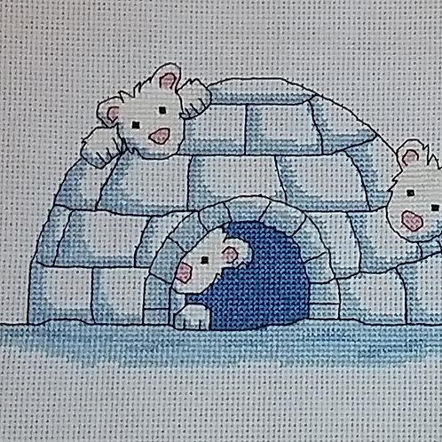 #6. Polar bear and igloo