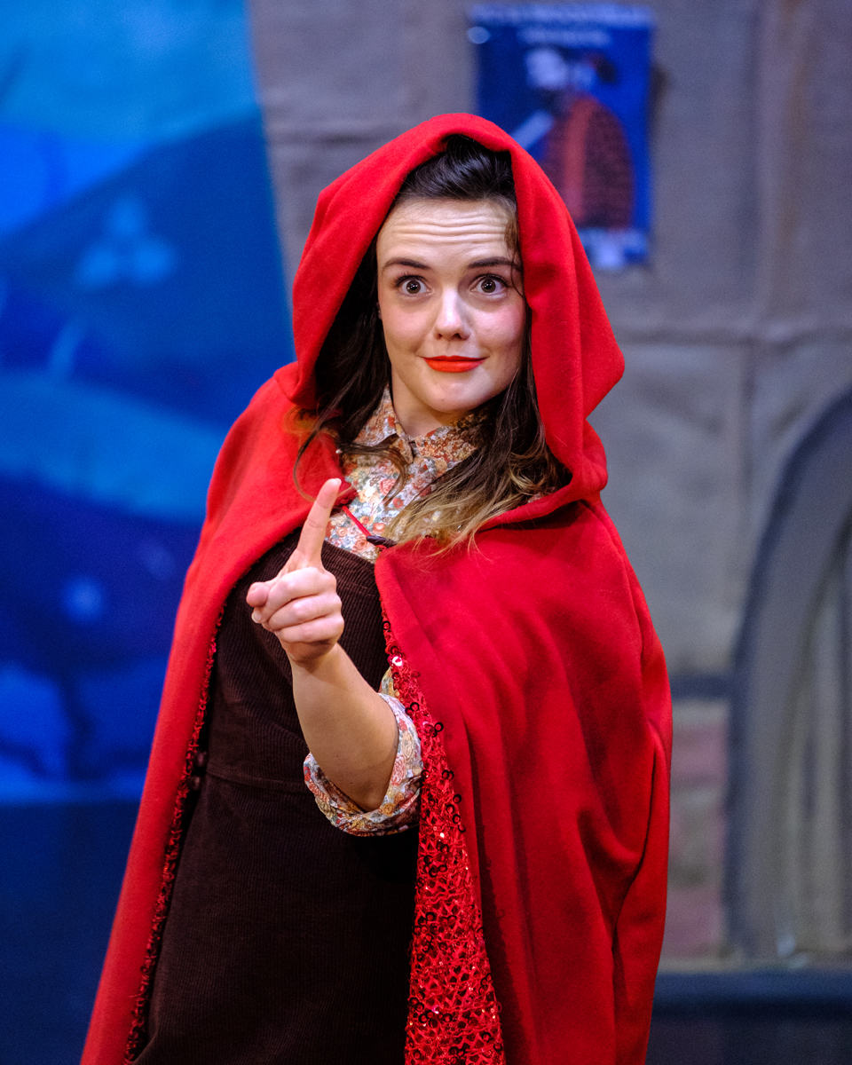 Claire Burns as Scarlett in Red Riding H