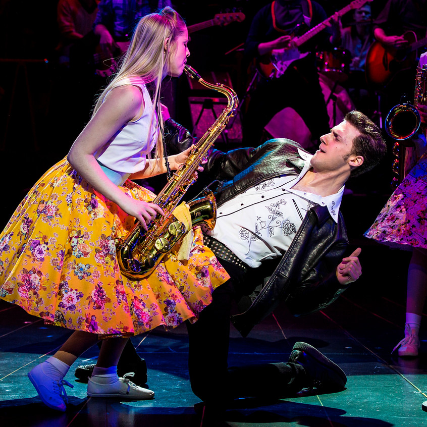 Chloe Edwards-Wood & Alastair Norman in the Dreamboats and Petticoats 2017 UK Tour. Photo by Pamela Raith Photography 005
