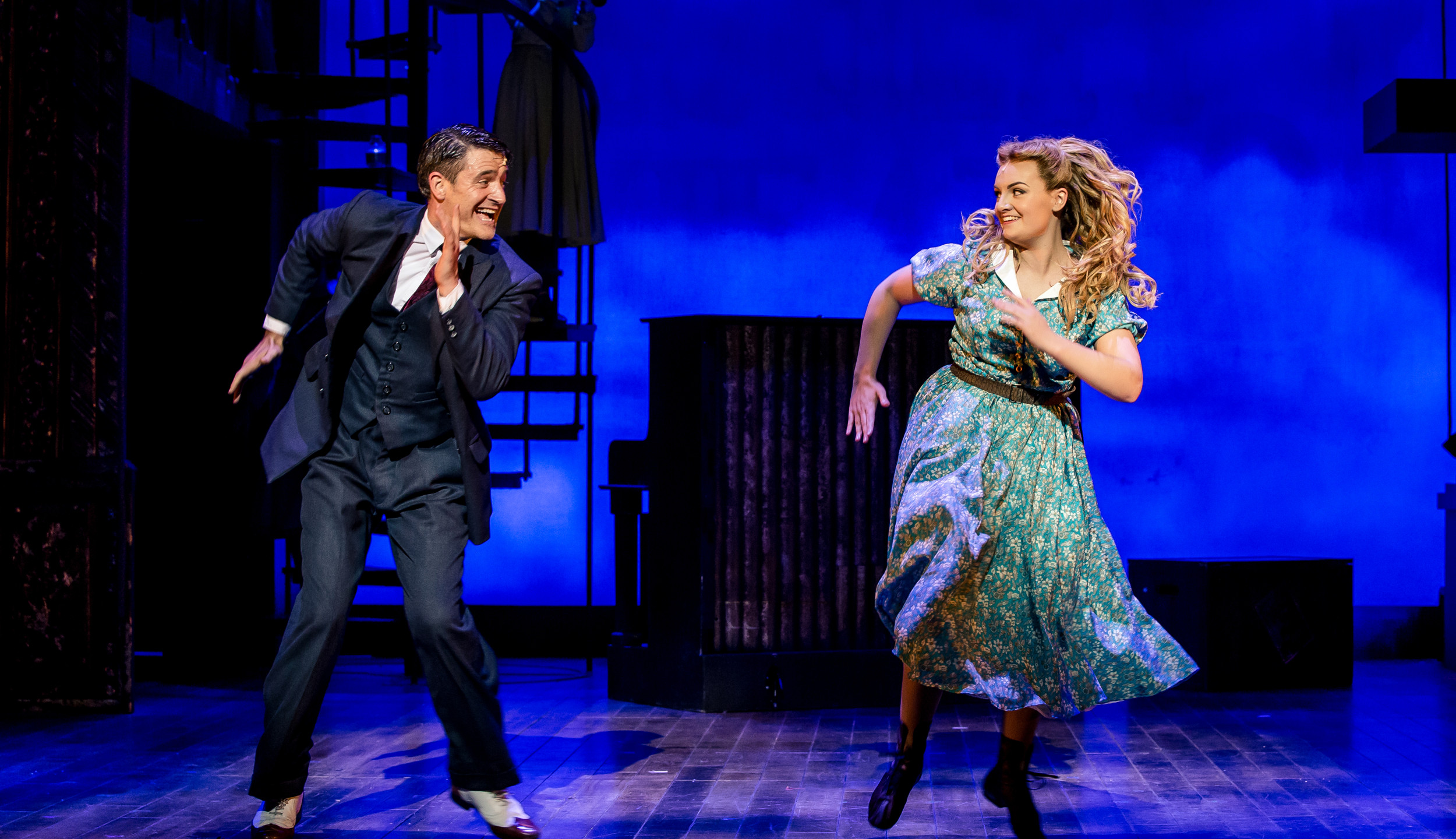 24. CRAZY FOR YOU. Tom Chambers 'Bobby' and Charlotte Wakefield 'Polly'. Photo Richard Davenport