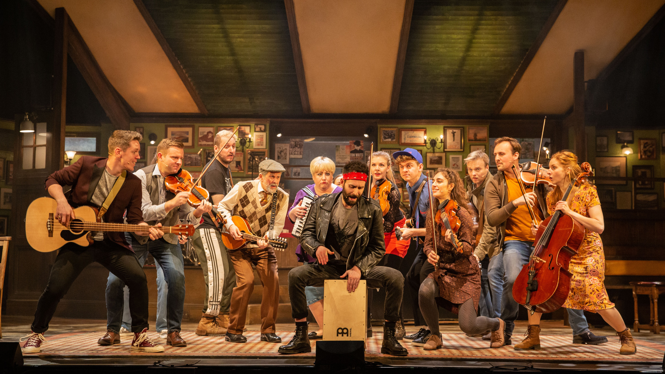 The cast of Once - UK Tour - Photo Mark
