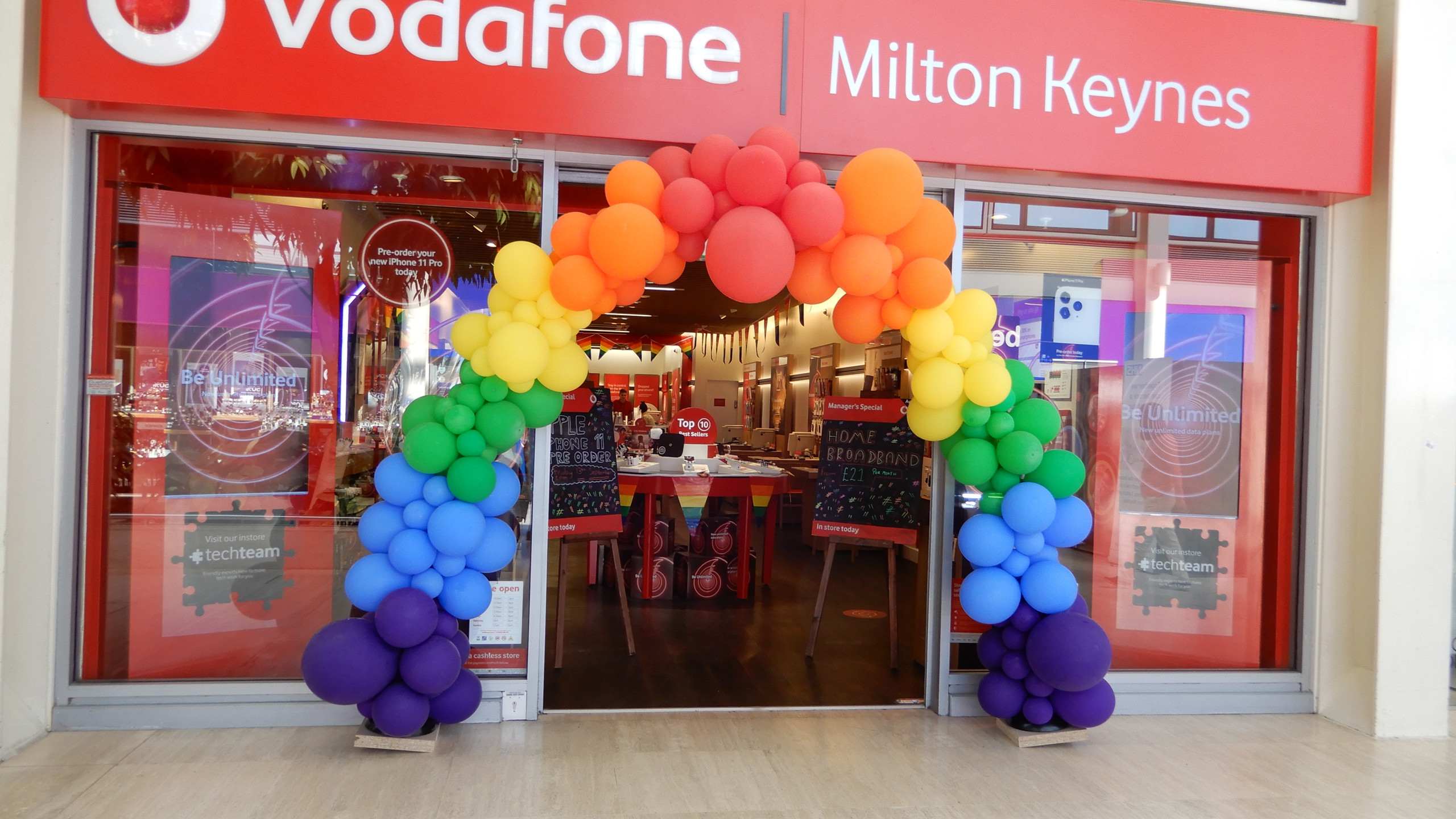 Vodafone supports Pride