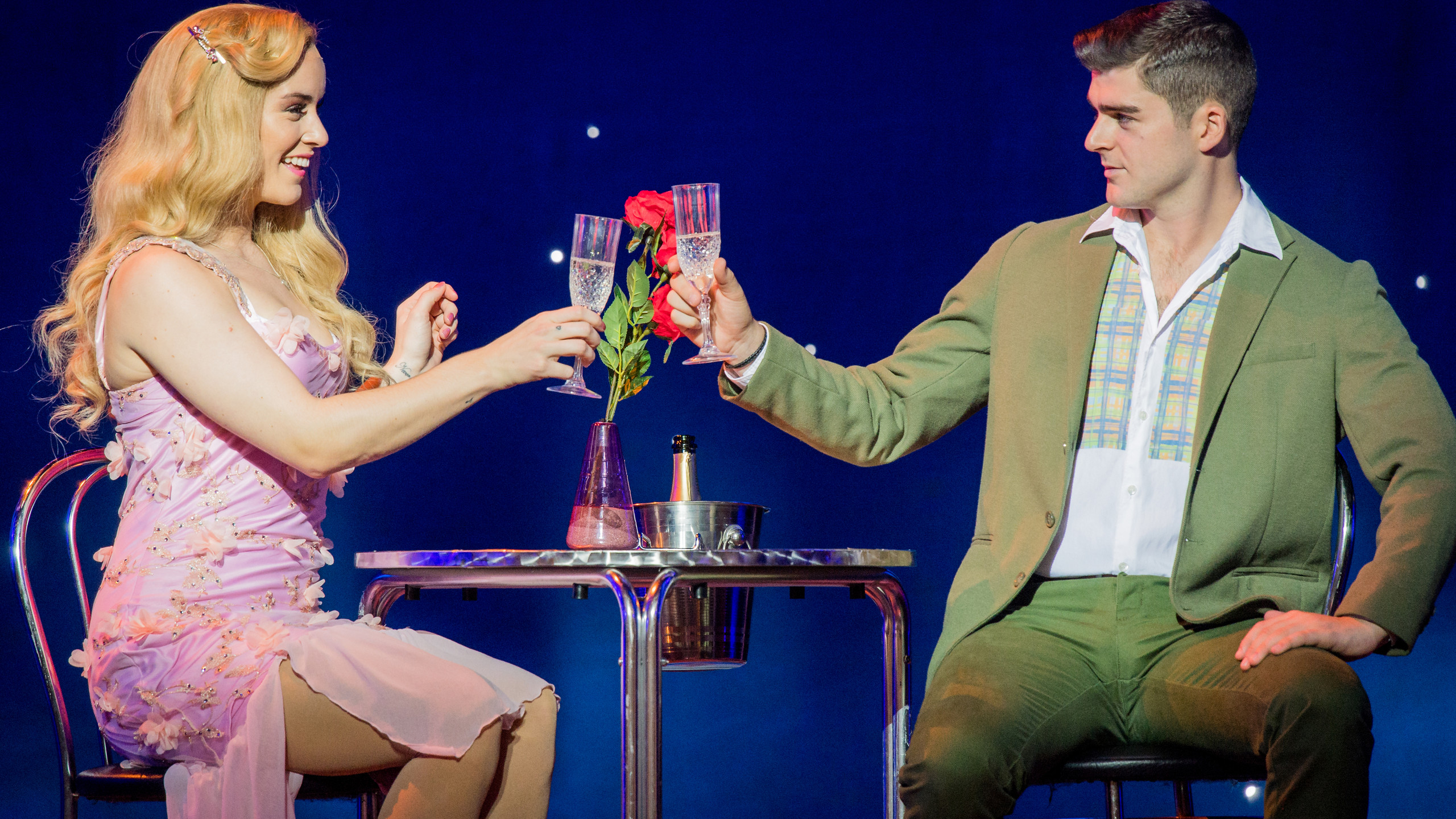 Legally Blonde SERIOUS Lucie Jones and Liam Doyle Photo Robert Workman