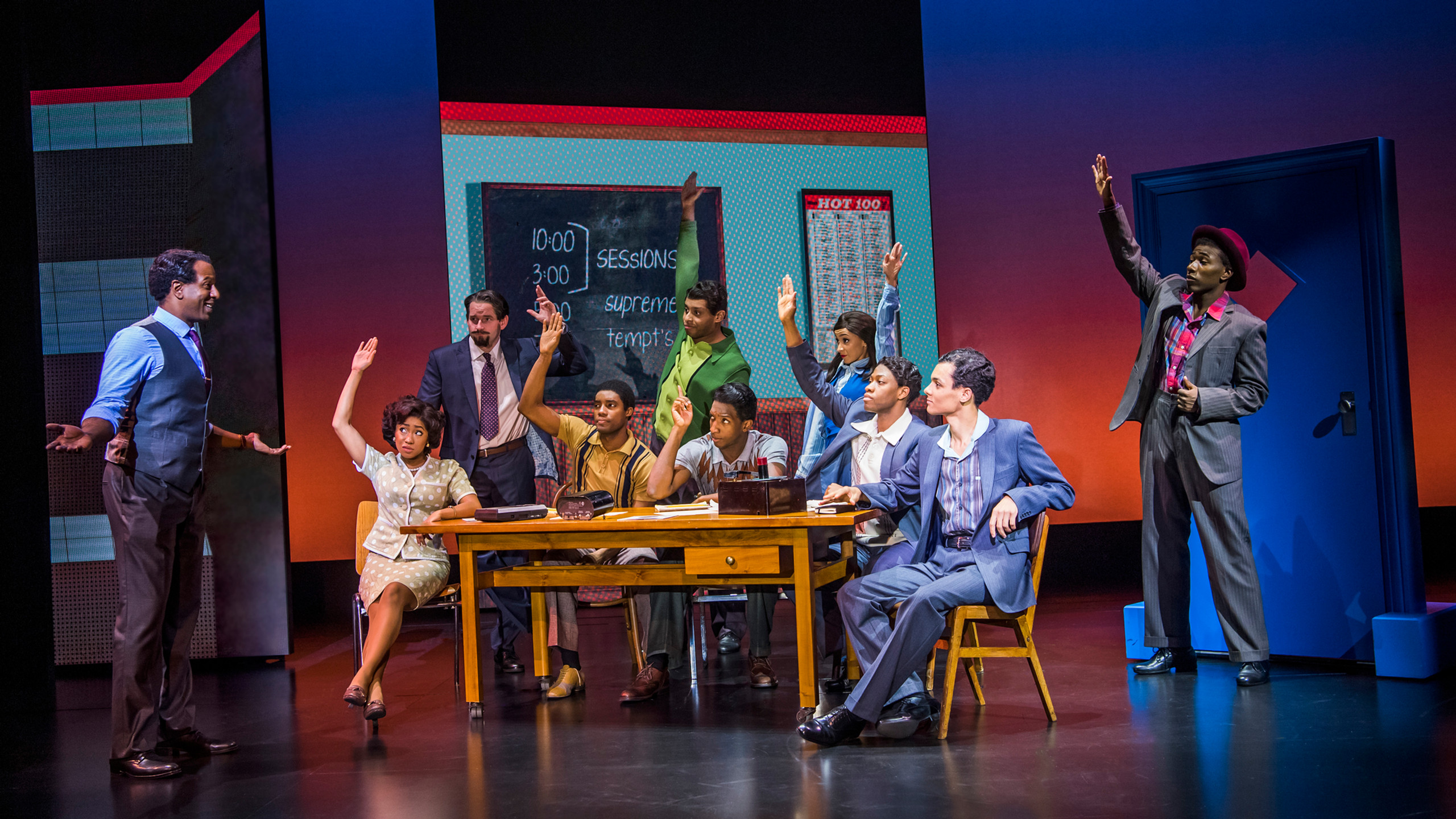 23. MOTOWN THE MUSICAL. The Company