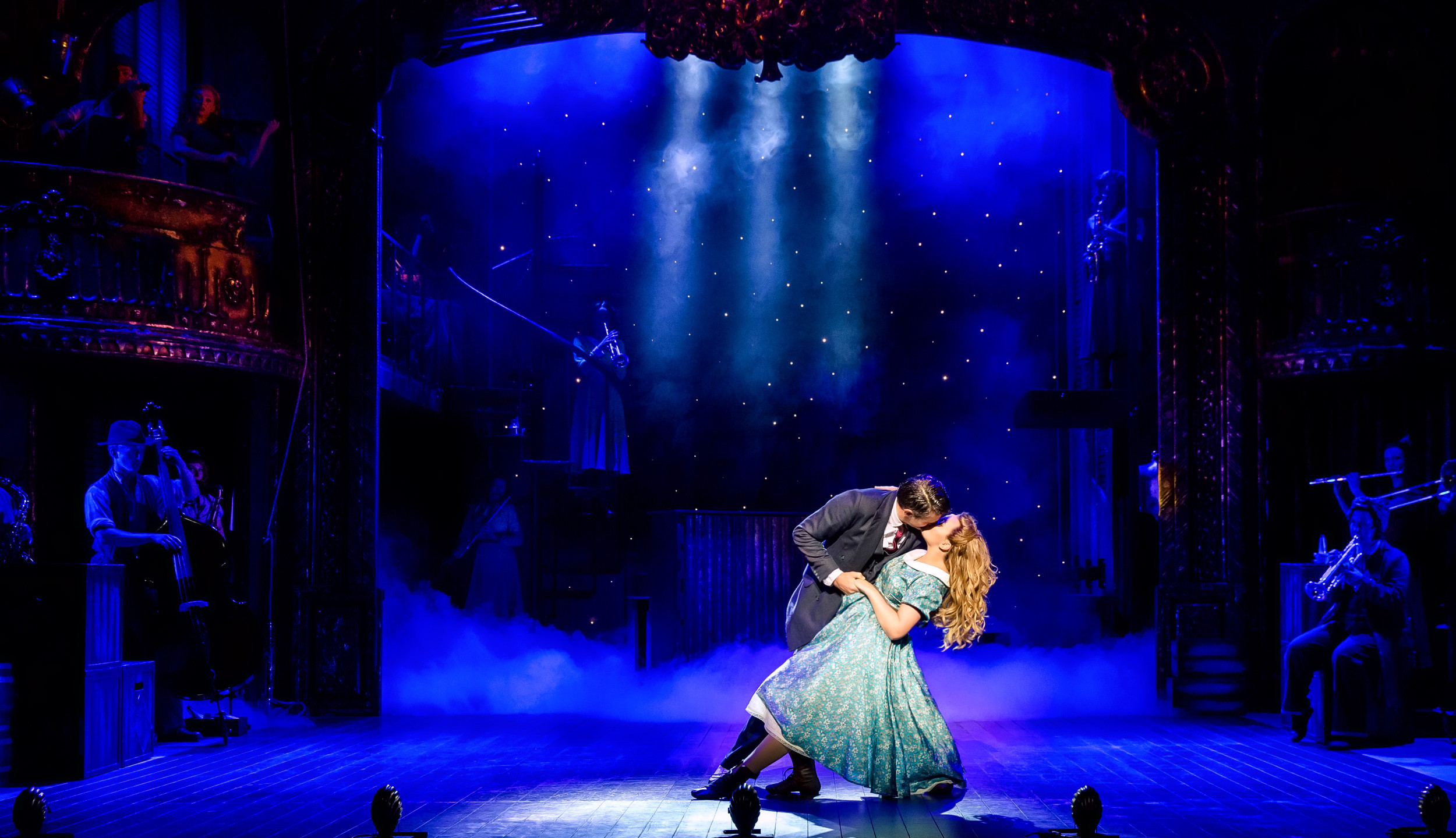 7. CRAZY FOR YOU. Tom Chambers 'Bobby' and Charlotte Wakefield 'Polly'. Photo Richard Davenport