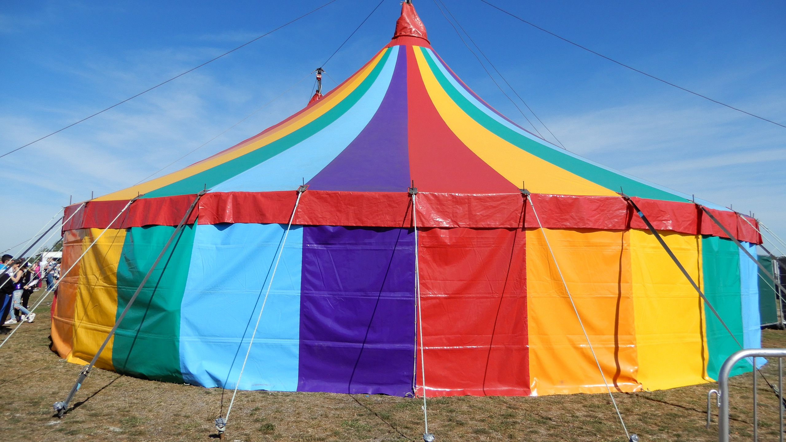 Music tent of rainbows