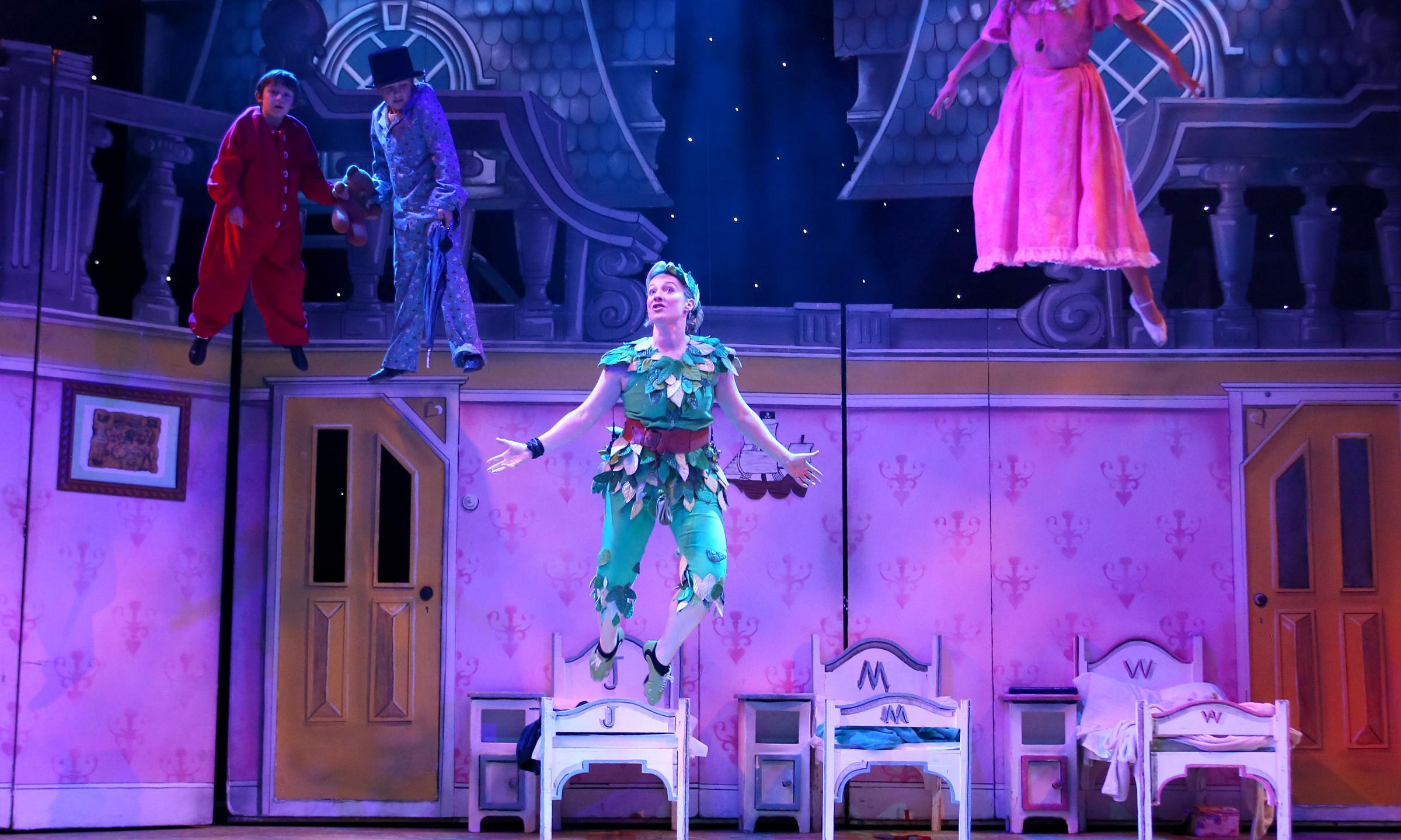 Darlings and Peter Pan flying