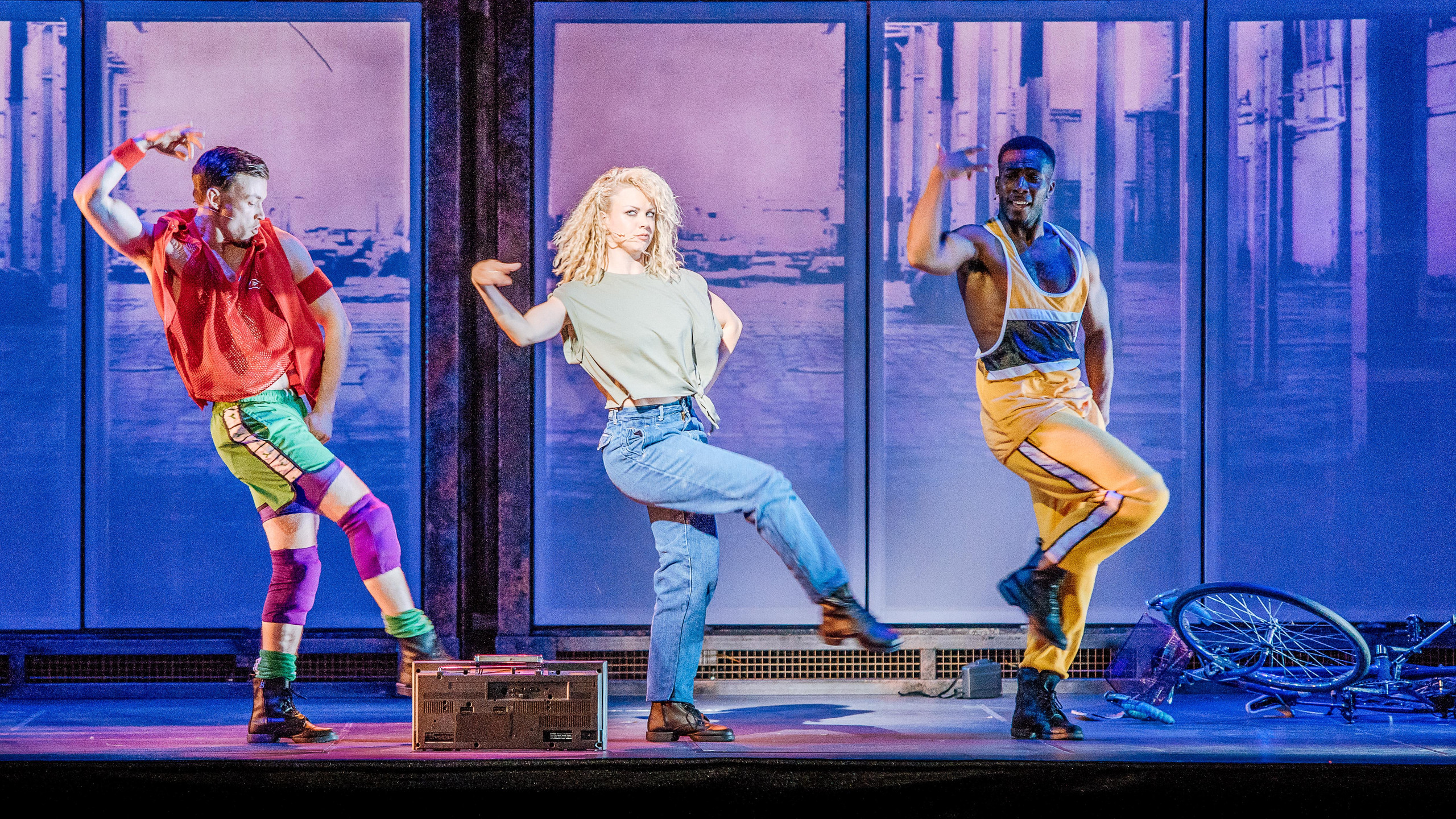 Alex Christian,  Joanne Clifton and Simeon Beckett - Credit Brian Hartley
