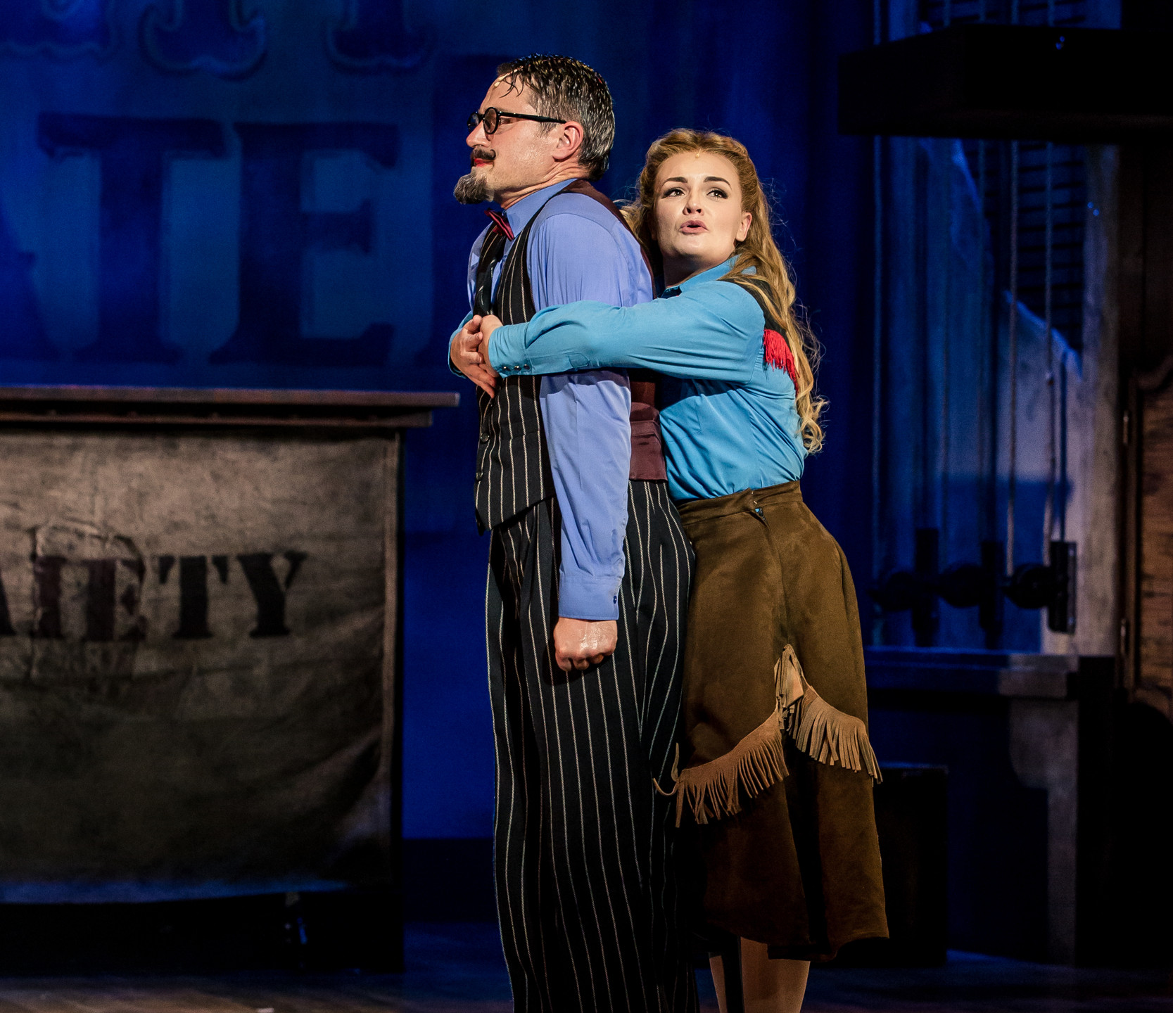 23. CRAZY FOR YOU. Tom Chambers 'Bobby' and Charlotte Wakefield 'Polly'. Photo Richard Davenport