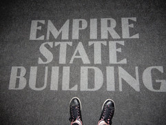 My feet at the Empire State Building