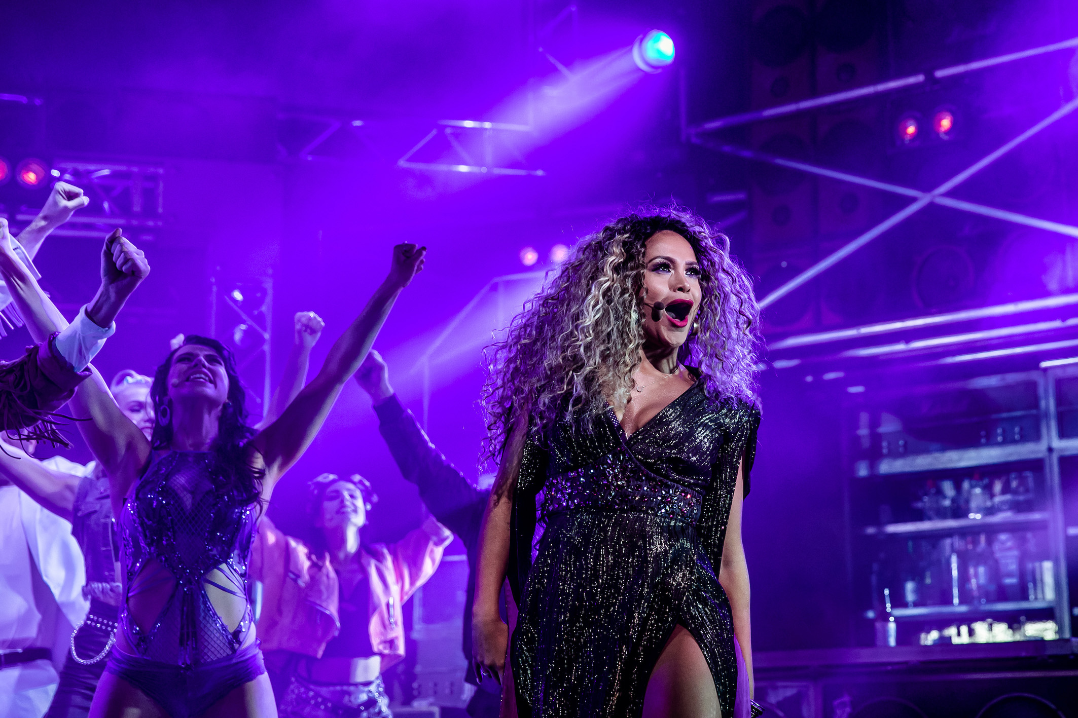 Zoe Birkett as 'Justice' in ROCK OF AGES