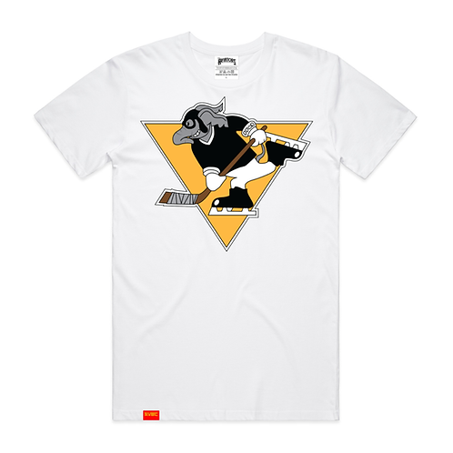 Hockey Ace Tee in white