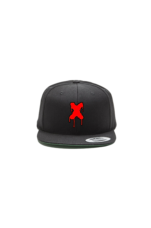 Drippin X SnapBack in black