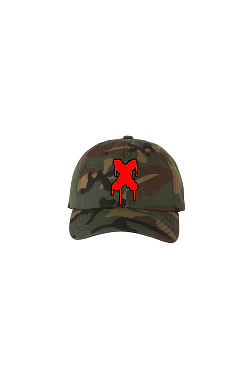 Drippin X Dad Hat in Camo