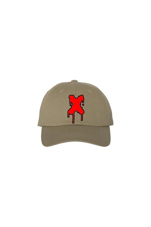 Drippin X Dad Hat in Khaki