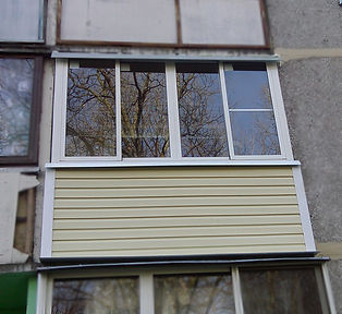 Наружняя и внутренняя отделка балкона