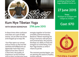 Kum Nye workshop June 27th at Nyima Tashi