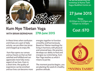 Kum Nye workshop June 27th at Nyima Tashi