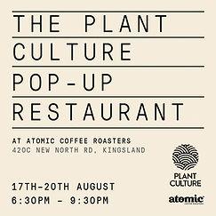 Plant Culture pop-up restaurant
