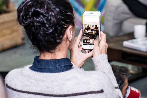 Attendee capturing event on phone