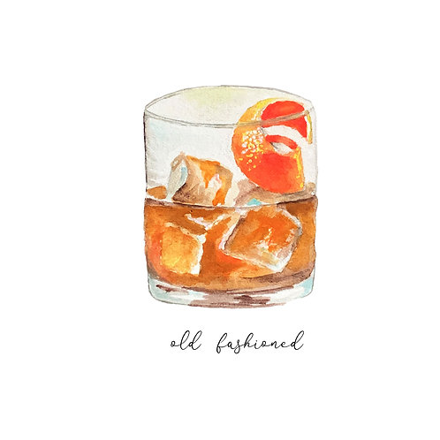 Watercolor Old Fashioned