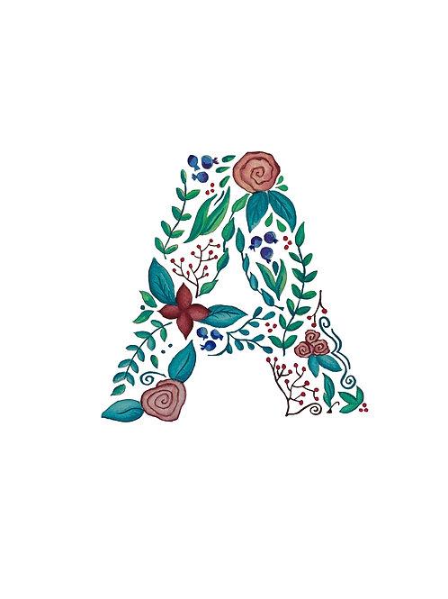 Watercolor Letter 'A'