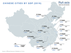 Chinese Cities by GDP