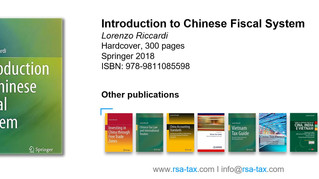 Introduction to Chinese Fiscal System - L. Riccardi (Springer 2018)