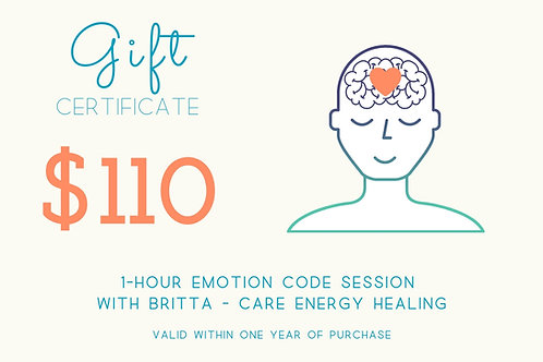 1-Hour Emotion Code Gift Certificate