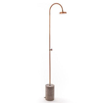 Aquart lux' shower in processed copper h. cm.200