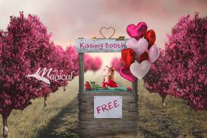 Valentines Day Fantasy Digital Backdrops