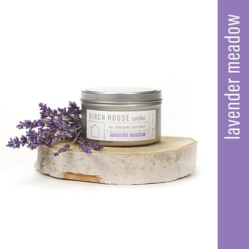 8 OZ LAVENDER MEADOW SOY WAX CANDLE