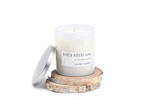 11.5 OZ LAVENDER MEADOW SOY WAX CANDLE