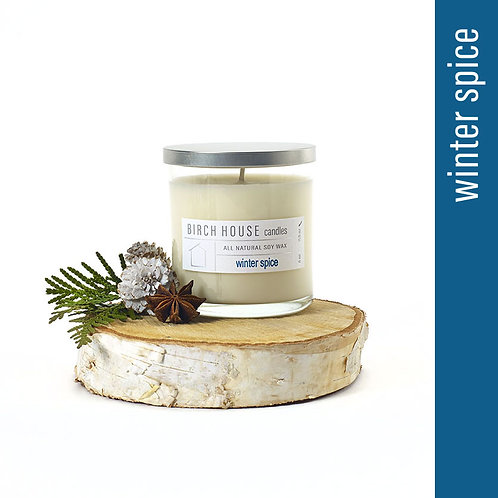 11.5 OZ WINTER SPICE SOY WAX CANDLE