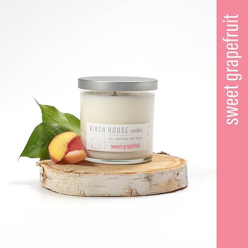 11.5 OZ SWEET GRAPEFRUIT SOY WAX CANDLE