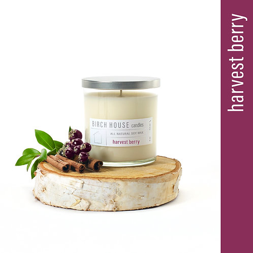 11.5 OZ HARVEST BERRY SOY WAX CANDLE