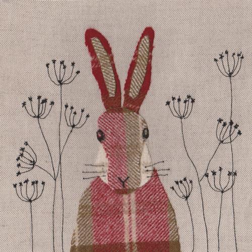 Hare fabric art