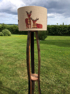 Red Stag Whisky barrel lamp